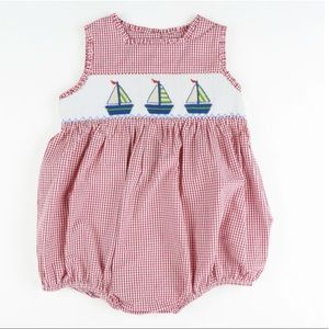 Other - NWT. Red smocked sailboat bubble.